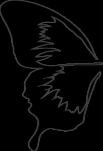 Half Of A Butterfly Clip Art at Clker.com - vector clip ...