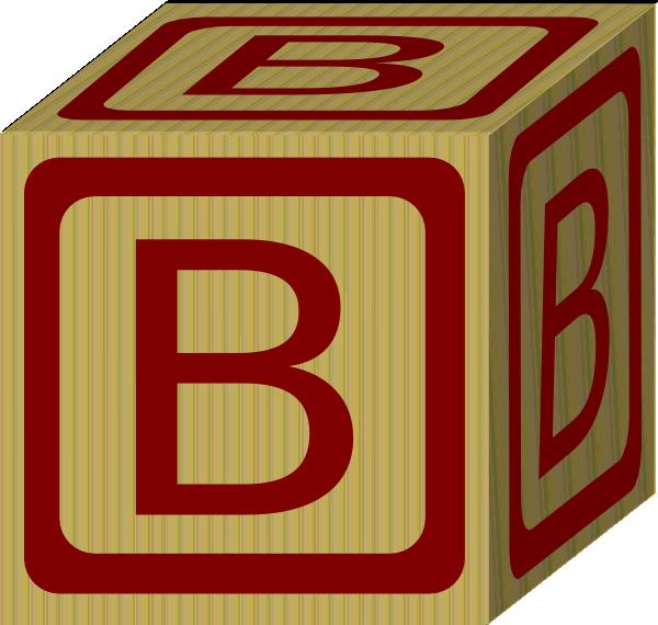 Alphabet Block B Clip Art At Clker Com