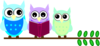 Owl Family Reading Clip Art