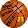 Happy Birthday Basketball Zeke Clip Art