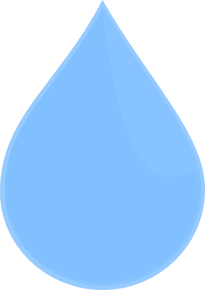 Sky-blue-water-drop Clip Art at Clker.com - vector clip ...