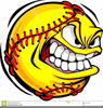 Free Flaming Softball Clipart Image