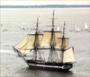 Uss Constitution Under Sail. Image