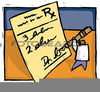 Doctor Writing Prescription Clipart Image