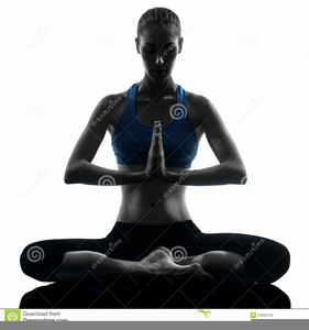 Meditating Silhouette Image