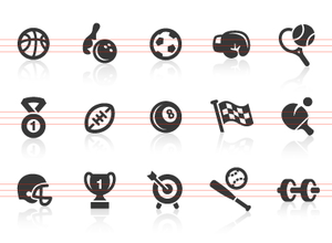 0041 Sports Equipment Icons Image