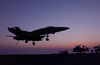 An F/a-18c Hornet Makes An Arrested Landing On The Flight Deck Aboard Uss Kitty Hawk Kitty (cv 63). Image