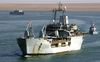 The Royal Fleet Auxiliary, Landing Ship Logistic Rfa Sir Galahad (l 3005) Arrives In The Iraqi Port City Of Umm Qasr Image