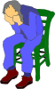 Man Sitting On A Chair Clip Art