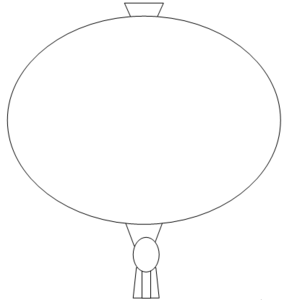 Chinese Lantern Outline Image