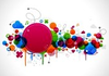 Abstract Colorful Background Design With Paint Splatter Eps Image