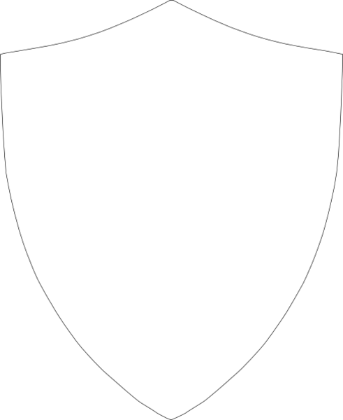 Shield outline large hi free images at for Blank shield template printable