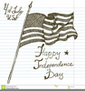 Usa Flag Clipart Black And White Image