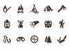 0009 Outdoor And Camping Icons Image