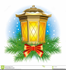 Christmas Lanterns Clipart Image