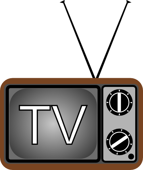 Television antenna clip art at vector clip art for Craft shows on tv