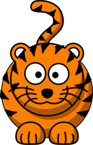 Cartoon Tiger Clip Art at Clker.com - vector clip art ...
