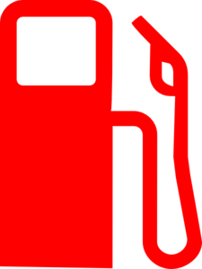 Simple Red Gas Pump For Led Display Clip Art