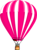 Pink And White Hot Air Balloon Clip Art