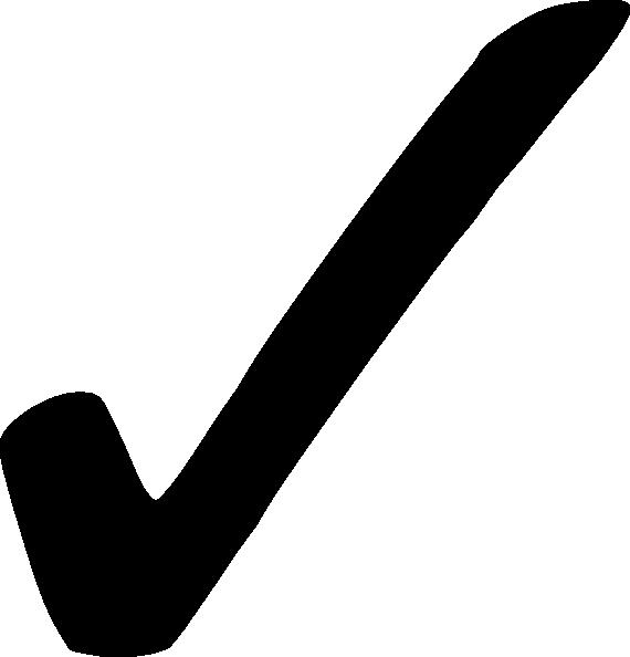 Black Check Mark - Png Clip Art at Clker.com - vector clip art online,  royalty free & public domain