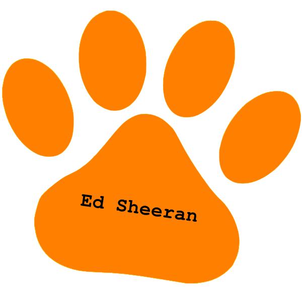 Orange Paw Ed Sheeran Text Clip Art At Clker Com Vector