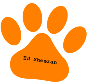 orange paw ed sheeran text clip art at clker com vector paw print clip art lines paw print clip art lines