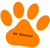 Orange Paw Ed Sheeran Text Clip Art