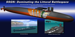 Illustration Of Uss Ohio (ssgn 726) Which Is Undergoing A Conversion From A Ballistic Missile Submarine (ssbn) To A Guided Missile Submarine (ssgn) Designation 2 Image