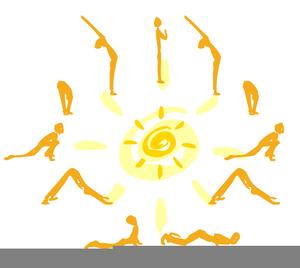 sun salutation illustration  free images at clker