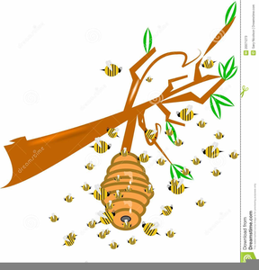 Moving Honey Bee Clipart Image