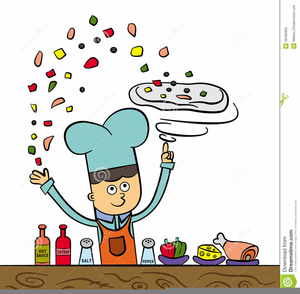 Pizza Making Clipart Image