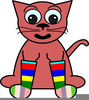 Silly Sock Clipart Image