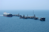Commercial Oil Tanker Abqaiq Readies Itself To Receive Oil At Mina-al-bkar Oil Terminal (mabot), An Off Shore Iraqi Oil Installation Image