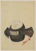 [mouse, Facing Front, Sitting On A Mallet With Red Ribbon Through A Hole In The Handle] Image