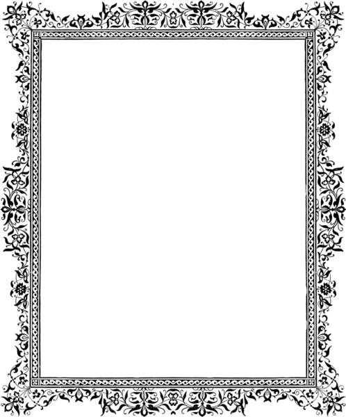p border monochrome x