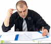 Man Working Hard Clipart Image