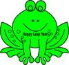 Leap Year Frog Clip Art