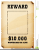 Western Wanted Poster Clipart Image