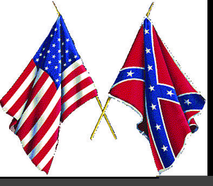 Civil War Flags Clipart Image
