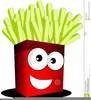 Cheese French Fries Clipart Image