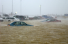 Rain And Heavy Winds From Hurricane Isabel Flooded Portions Of Fleet Parking At Naval Station Norfolk, Virginia. Image