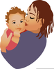 African American Mother And Baby Clipart Image