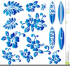 Blue Hibiscus Flower Clipart Image