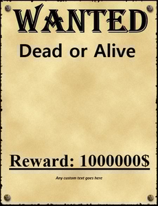 Cowboy Wanted Poster Clipart Image