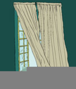 Curtains Breeze Clipart Image Image