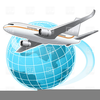 Globe And Airplane Clipart Image