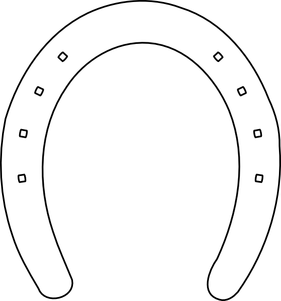 Horse Shoe Outline Clip Art at
