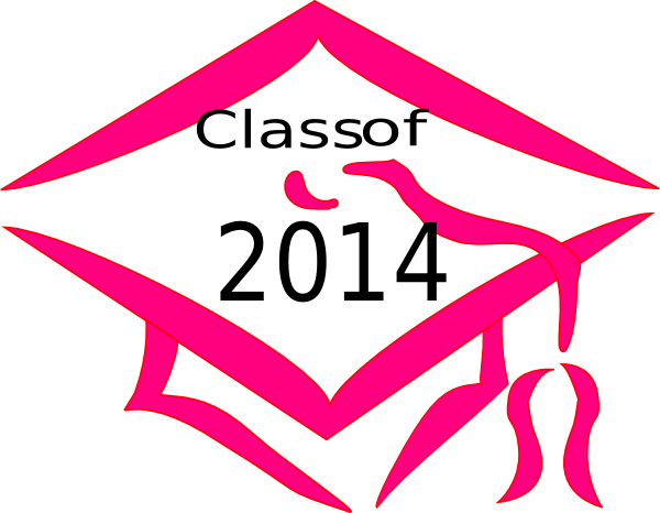 Class Of 2014 Graduation Cap - Pink Clip Art at Clker.com ... Class Of 2014 Clipart