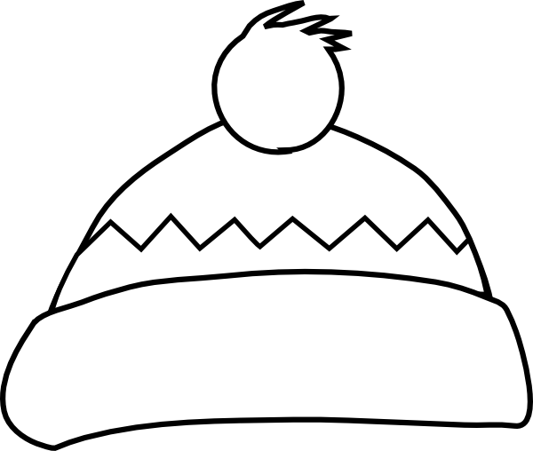 Black And White Hat Part : White winter hat clip art at clker vector