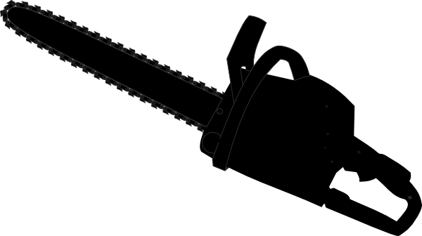 chainsaw black outline clip art at clker com